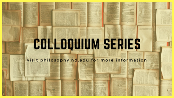 Colloquium Series: Jon McGinnis (Missouri-St. Louis)