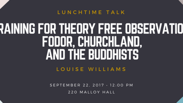 Lunchtime Talk: Louise Williams