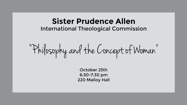 MAP Event: Sr. Prudence Allen