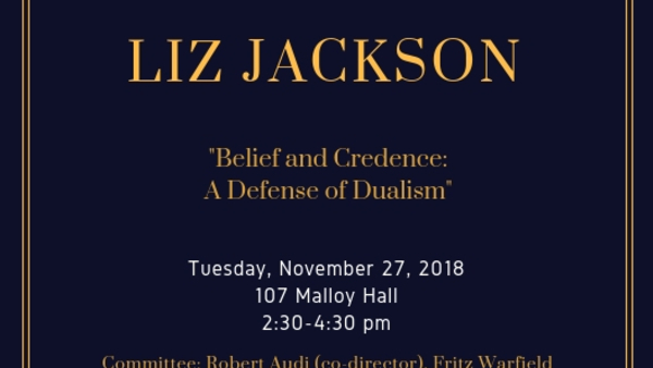 Dissertation Defense: Liz Jackson