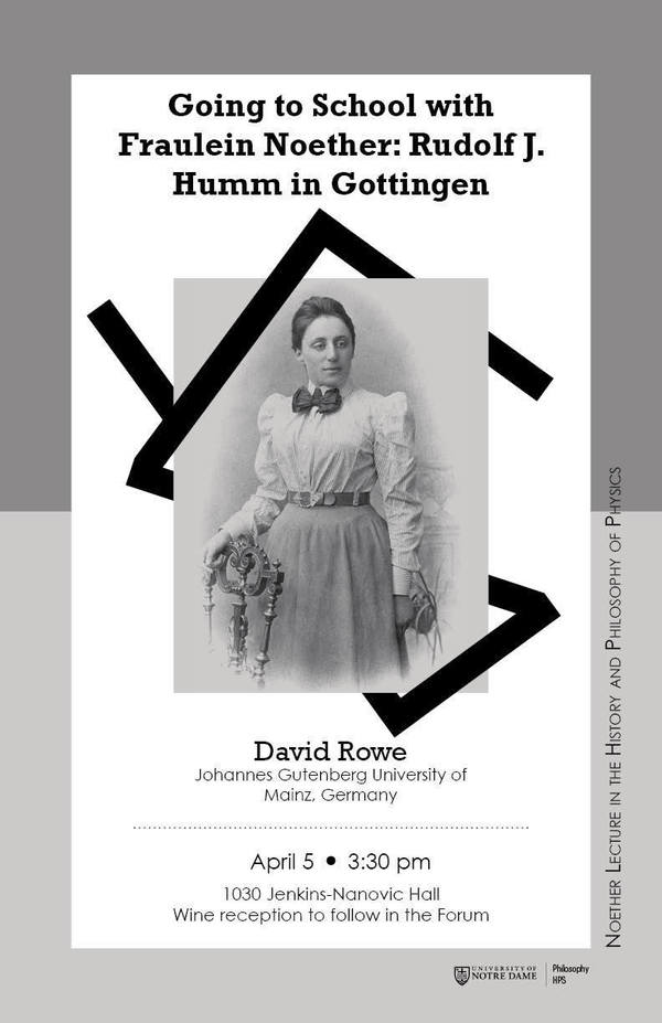 Noether Lecture April 19